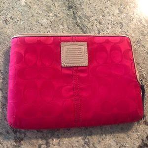 Coach mini iPad/tablet sleeve